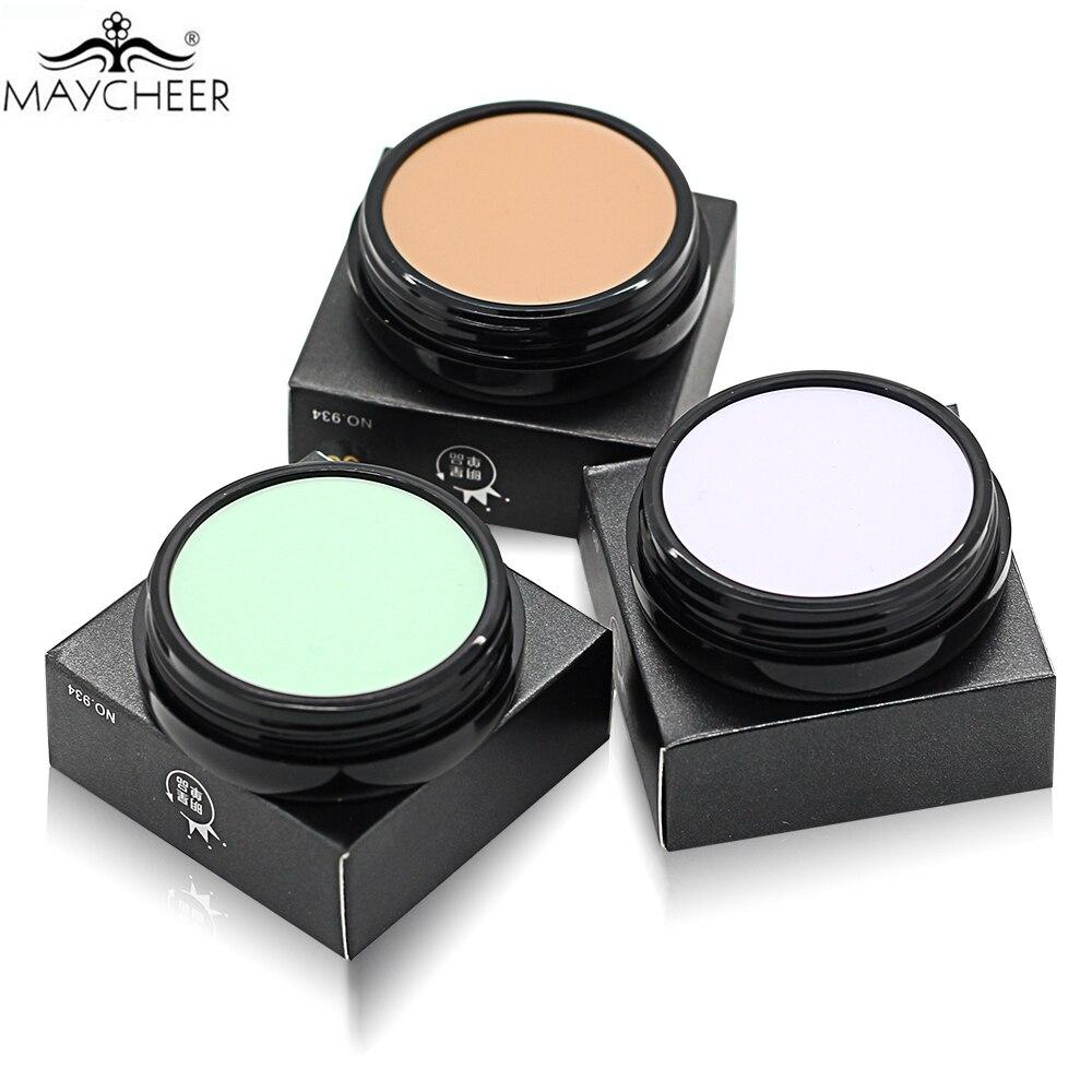 MAYCHEER Base font b Makeup b font Concealer Foundation Cream 10 Colors Oil control Moisturizing Full
