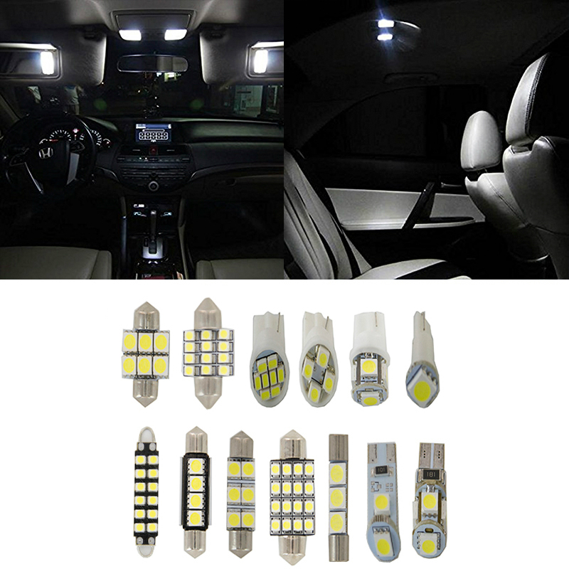 10XFor 1992-1993 <font><b>toyota</b></font> <font><b>CAMRY</b></font> <font><b>2.2L</b></font> L4 Light SMD Full LED Interior Lights Package Deal image