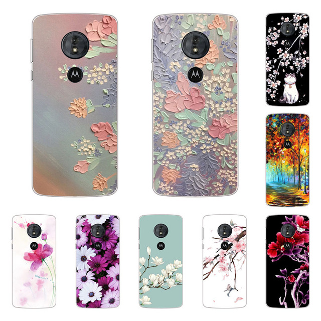 half off d4dc6 c3269 For Motorola Moto g6 play Case,Silicon Full flower Painting Soft TPU Back  Cover for Motorola Moto g6 play protect Phone bags