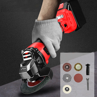Mini Cordless Angle Grinder 3.0AH 6.0Ah Lithium Battery Angle Grinder Rechargeable 100mm Grinding Machine Polisher For Home DIY