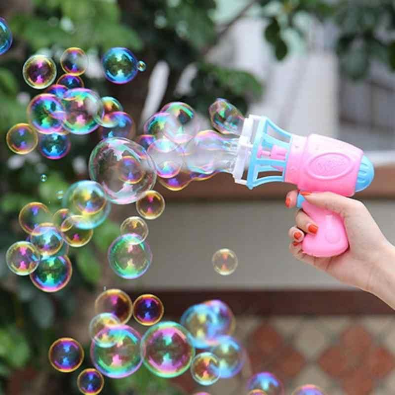 Ttnight пластиковая электрическая автоматическая машина для пузырей вентилятор ABS Пистолет воздуходувка пузырь делая игрушку Свадебный день рождения Декор случайный цвет
