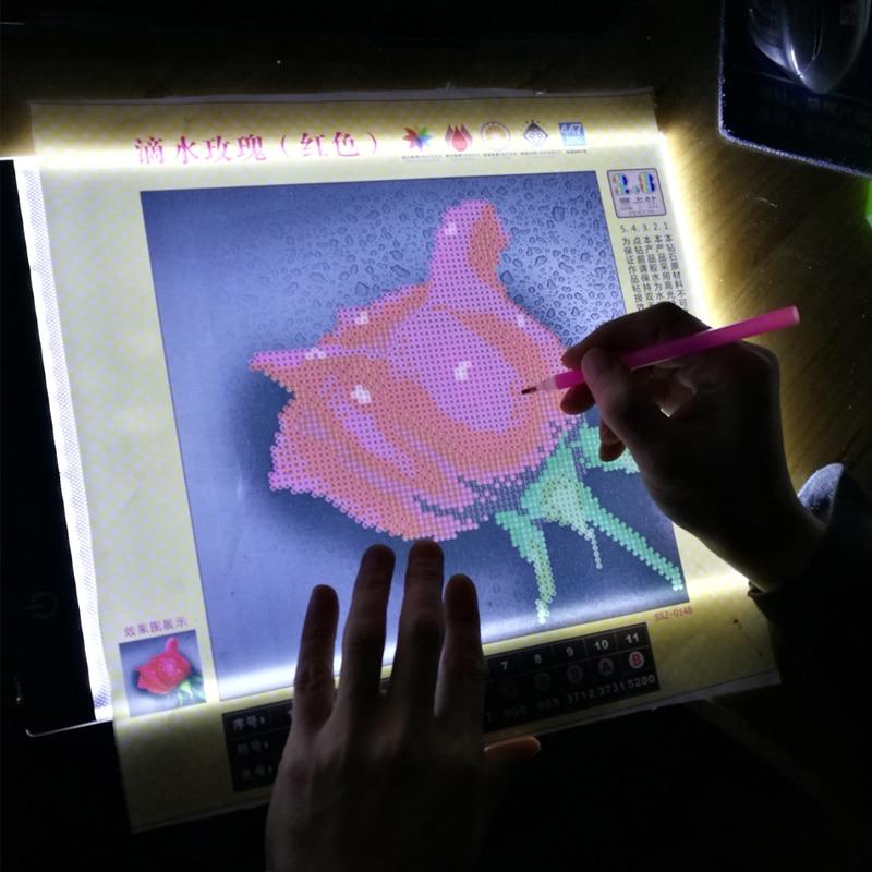 Ultrafino 3,5 mm A4 LED, lichtbak voor diamante pintura, diamant - Artes, artesanía y costura