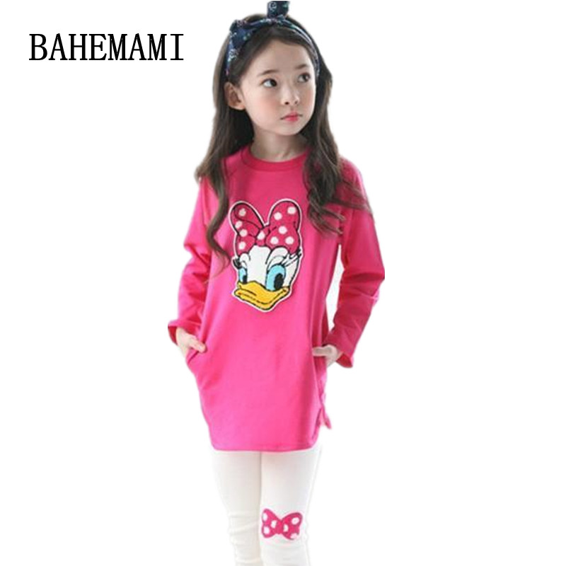 BAHEMAMI Childrens Clothing Set Casual Cartoon Girls Clothes Long Sleeve Spring Autumn Kids Suits for 3 4 5 6 7 8 9 10 Year Girl kids jackets for girls spring autumn style toddlers children clothing solid casual 2 3 4 5 6 7 8 year girls coat gray navy