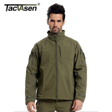 TACVASEN Man Brand Clothing Soft Shell Tactical Jacket Men Army Military Jackets Windproof Outerwear fleece lining