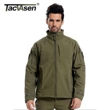 TACVASEN Mann Marke Kleidung Softshell Taktische Jacke Männer Army Military Jacken Winddicht Oberbekleidung fleece futter Mantel JLHS-008