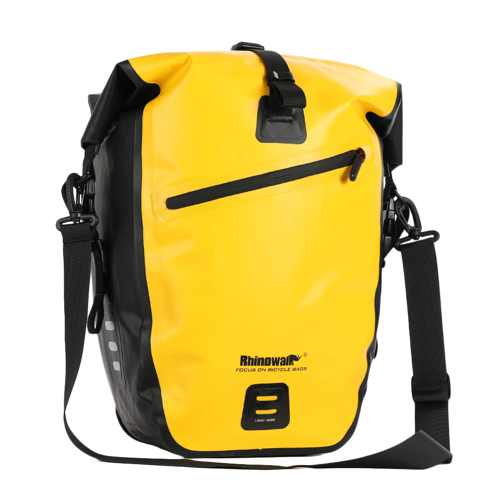 Rhinowalk 2019 New Bicycle Bag 25 27L Full Waterproof MTB Road Bike Rear Luggage Rack Bag Upgrade Travel Cycling Pannier Bag-in Bicycle Bags & Panniers from Sports & Entertainment    1
