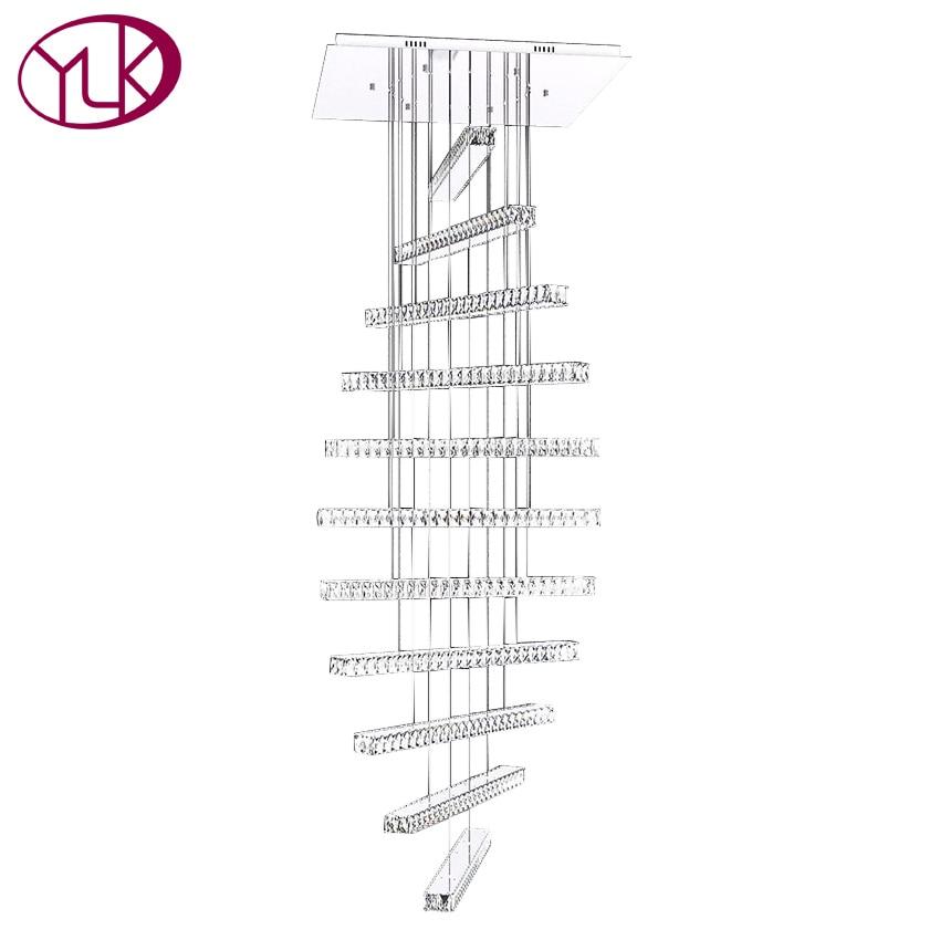 High Quality Modern LED Crystal Light Chandelier For Living Room Long Staircase Hanging Crystal Lamp Spiral Hall LED Lustre цена