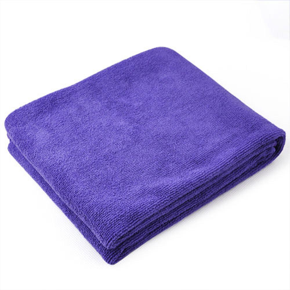 FJS! Microfibre Sports Travel Fitness Beach Swim Bath Towel - purple