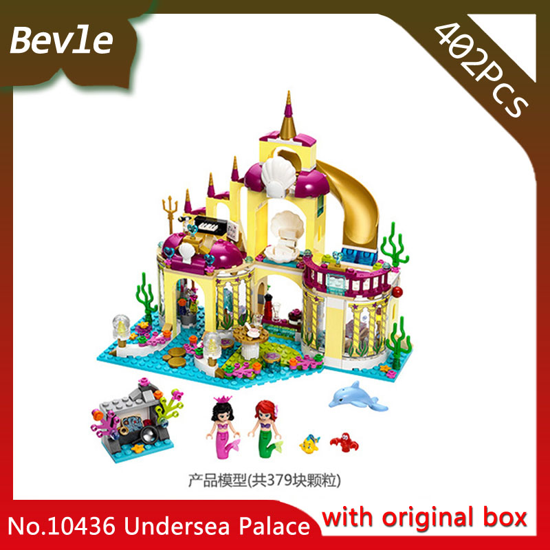 Bevle Store Bela 10436 383pcs with original box Friends Series Alice seabed palace Building Blocks For