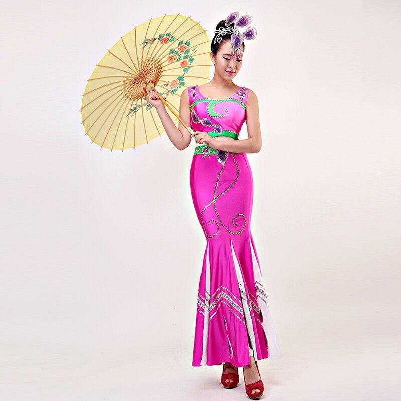 ⑧Danza popular china minoría trajes Dai danza del Pavo Real danza ...