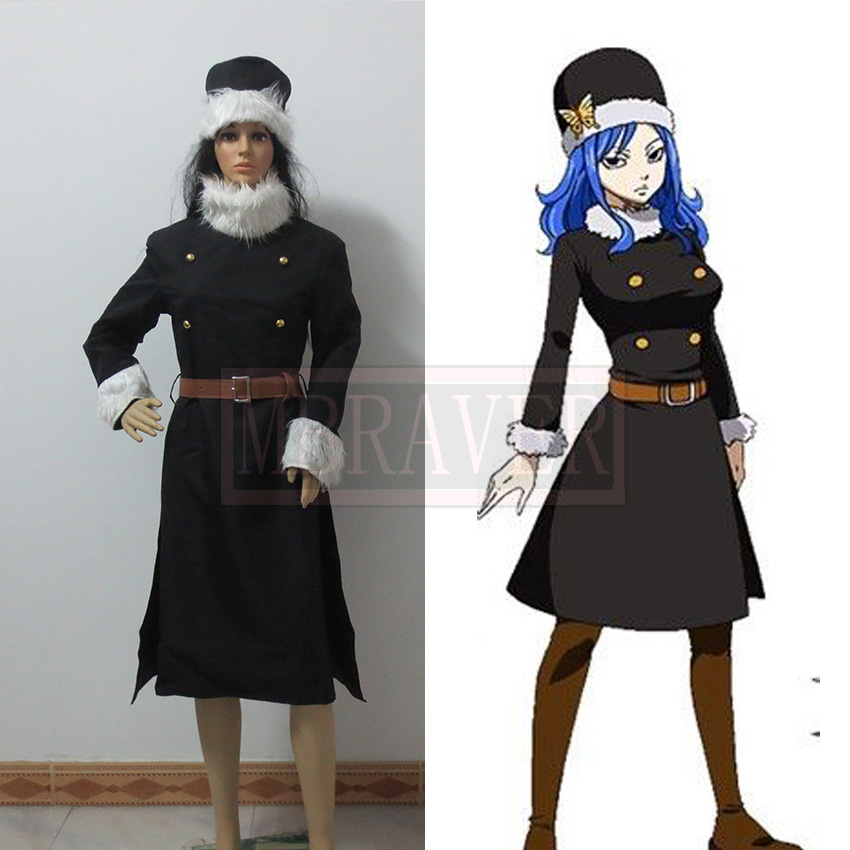 Fairy Tail Juvia Lockser Cosplay Costume Tailor made Halloween Costumes