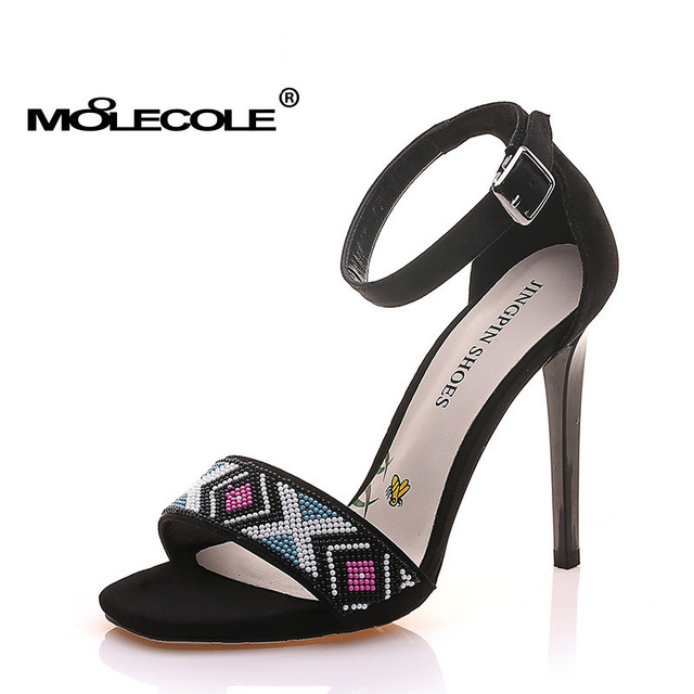MOOLECOLE 2017 Women Peep Toe High Heels 11CM Shoes Crystal Sexy Lady  Sandals on Sales USA4.5-8 EUR34-39 Model 71222 acc86e1f0
