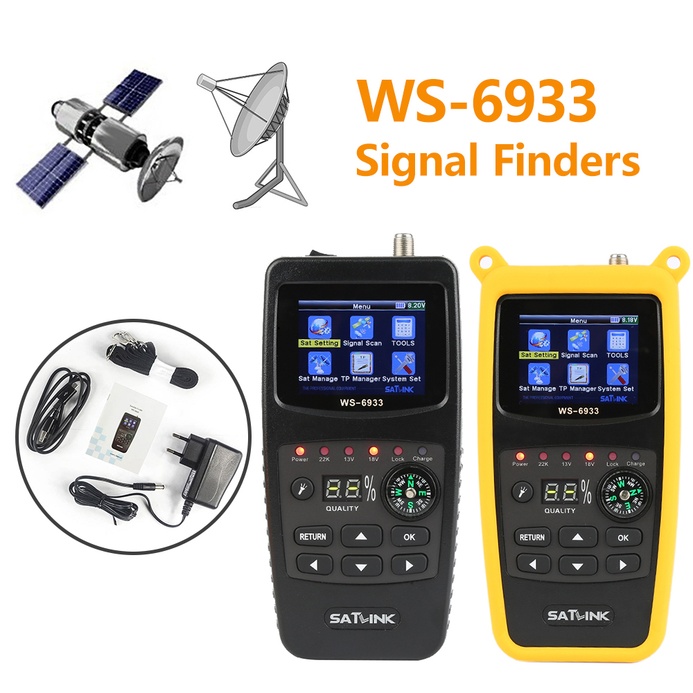 Satlink WS-6933 DVB-S2 FTA Digital Satellite Finder 2.1 Inch LCD Display KU Band 6933 Digital Signal Satellite locator Meter original dvb t satlink ws 6990 terrestrial finder 1 route dvb t modulator av hdmi ws 6990 satlink 6990 digital meter finder