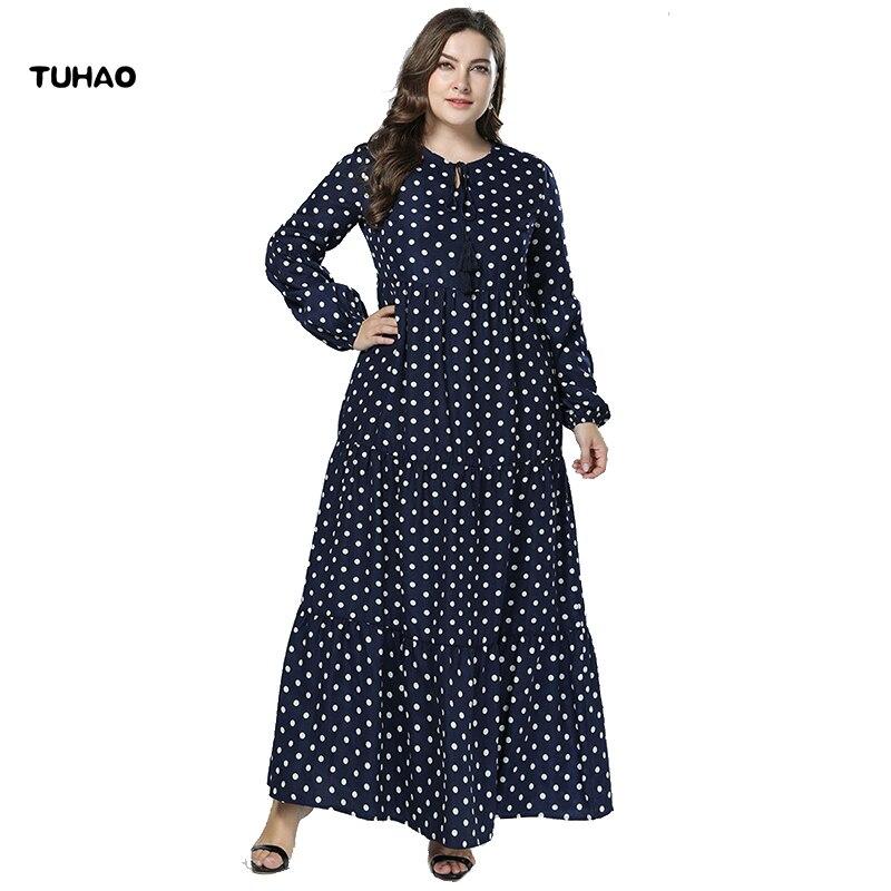 Detail Feedback Questions about TUHAO Long Sleeve Shirt Dress Muslim Kaftan  Caftan Casual Dress Plus Size 4XL 3XL Women Maxi Dress Print Long Dresses  Female ... 89aad347ca38