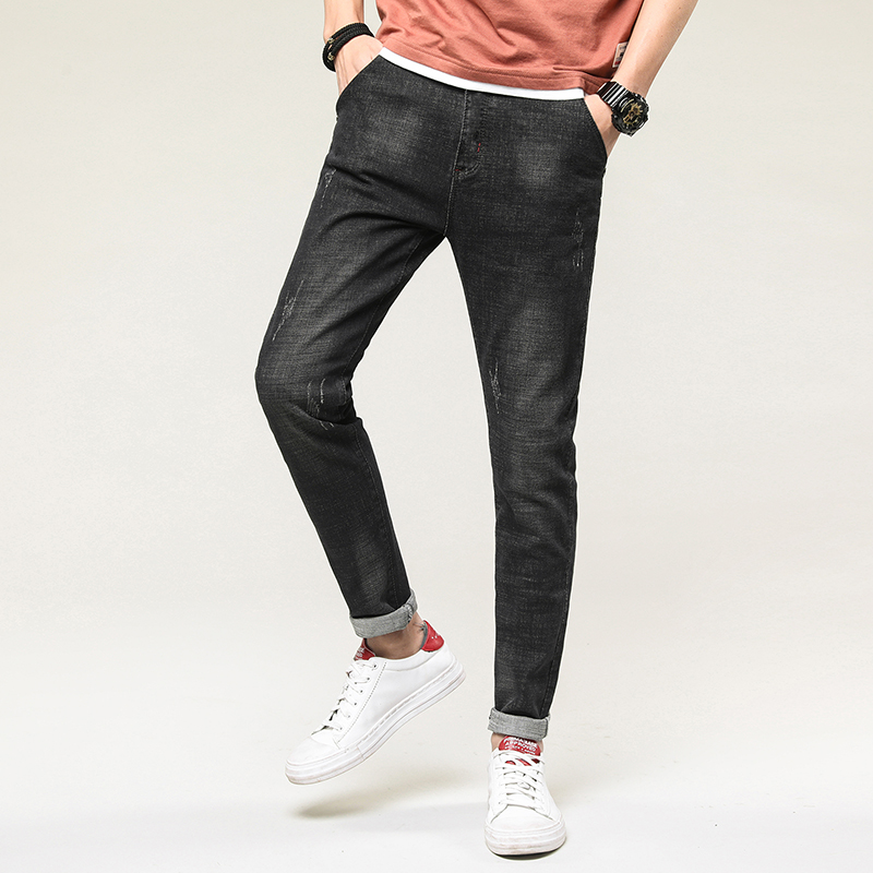 New Arrival Jeans For Men Brand Clothing Solid Big Pockets Denim Pants Men Quality Jeans Pants Male Black
