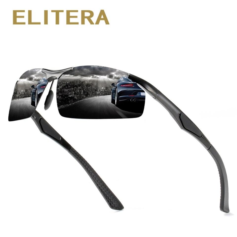 ELITERA Brand Design Fashion Outdoor Sports Polarized Sunglasses Goggles Men Driving Fishing Running Travel Sun Glasses