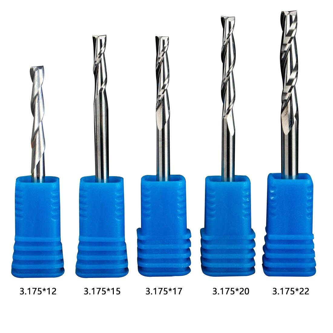 1 Stück 3,175mm Zwei Flöten Gerade Router Bits Für Holz Cnc Gerade Gravur Fräser Hartmetall-schaftfräser Werkzeuge Fräser Und Verdauung Hilft