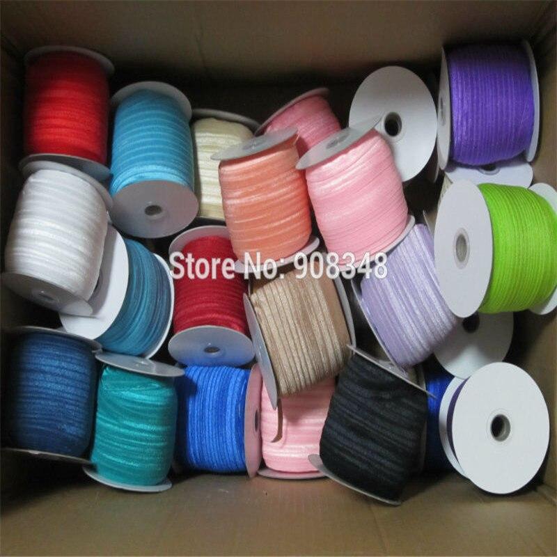 """5/8 """"16mm 80 colores color sólido Foe medio doblado sobre cinta elástica bandas para el cabello banda para el cabello accesorio de F016-in Cintas from Hogar y Mascotas    2"""