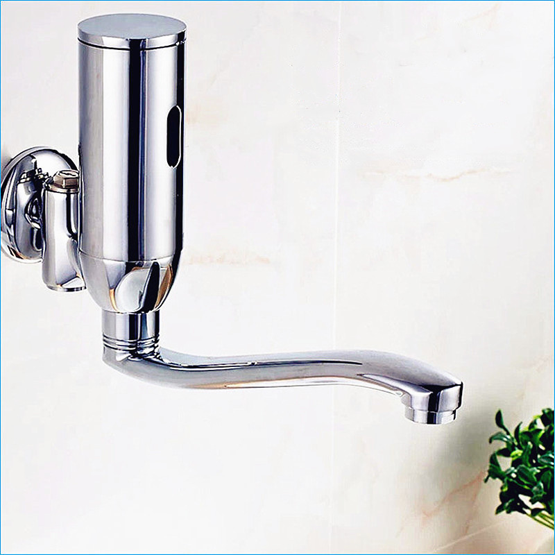 Basin Faucets Bathroom Sinks,faucets & Accessories Automatic Sensor Sense Brass Mixer Tap,sensor Hand Washer,intelligent Sensor Basin Faucet,wall Mounted,free Shipping J14344