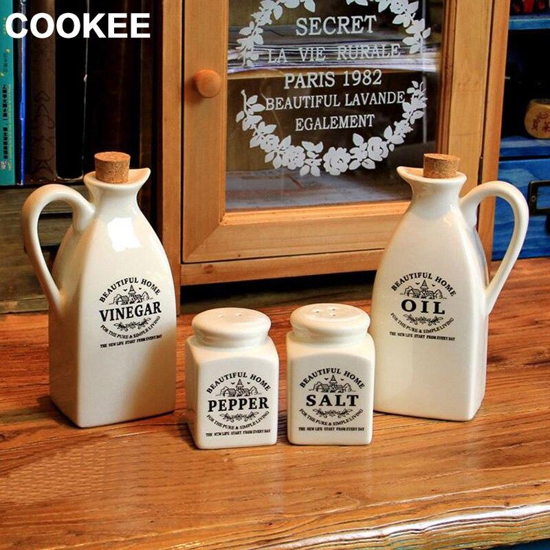 Botella de aceite para botes de salsa de cocina a prueba de fugas de - Cocina, comedor y bar