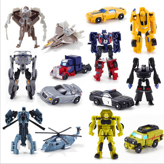 1PCS Transformation Kids Classic Robot Cars Toys For Children Action & Toy Figures free shipping with package 6 pcs set transformation robot cars and bruticus toys action figures block toys for kids birthday gifts
