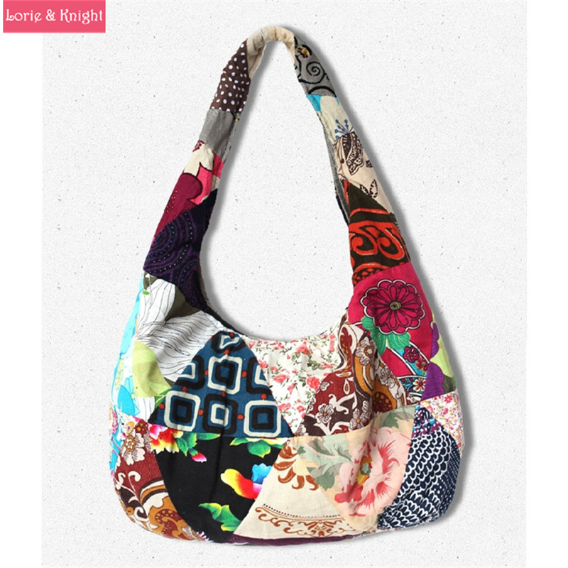 Aliexpress.com : Buy Hippie Hobo Ethnic Printed Cotton Sling Bag ...