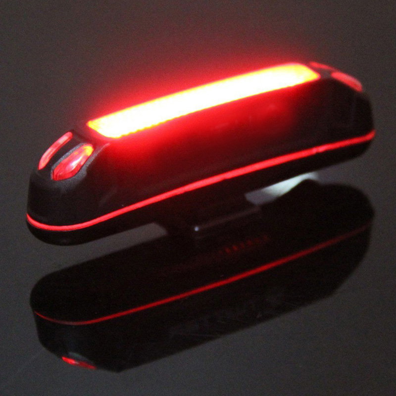 100lm Led Usb Rechargeable Head Light Flashlight Bicycle