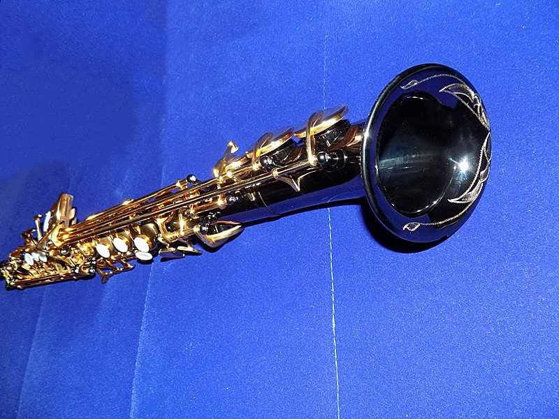 Bb Curved Soprano Saxophone Black Nickel Finish Hand engraving With Foambody Case Shipping time 8-13 days