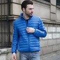 Novo Estilo Fino À Procura Homem Manter Aquecido Para Baixo peso Leve casaco Com Zíper Voar Standing Collar Estilo Moda Outono Inverno Casuais casaco