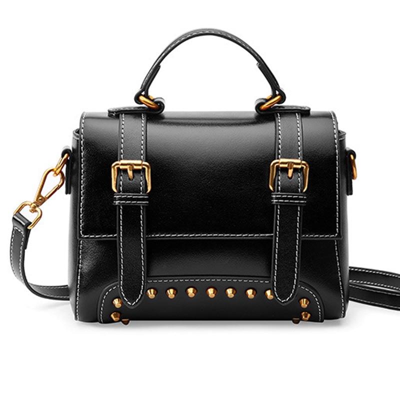 Женские Натуральная кожа поясная сумка через плечо rivert дизайн