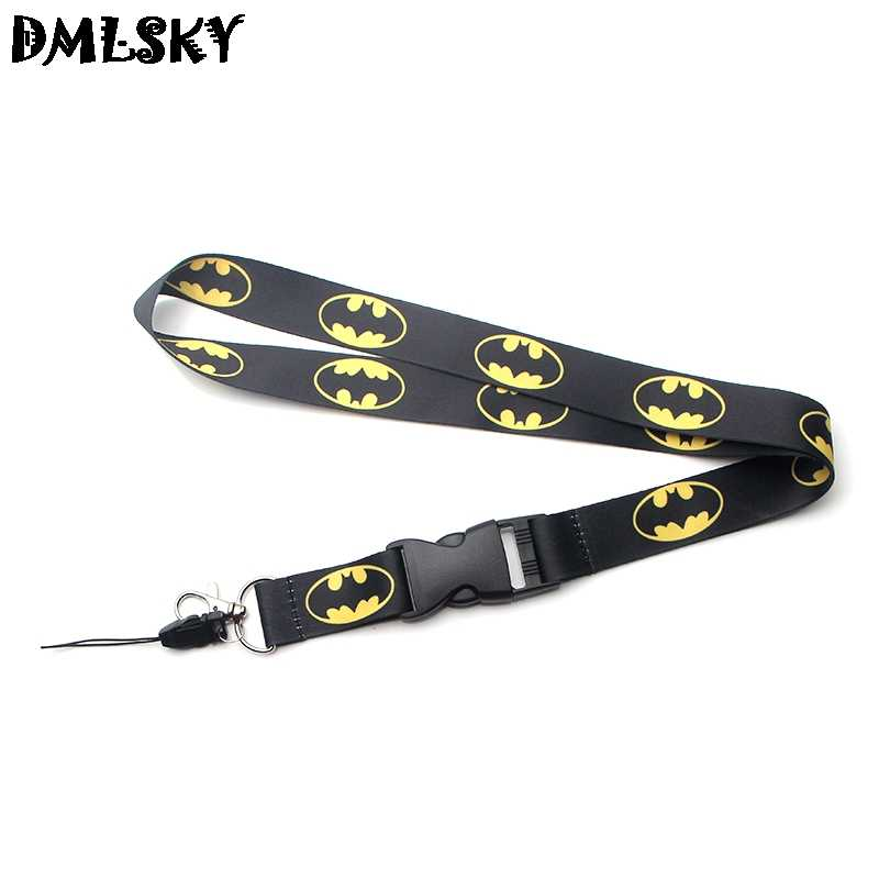 DMLSKY Batman Lanyard Keychain for keys Badge ID Mobile Phone Key rings Women Neck Straps Accessories M3161