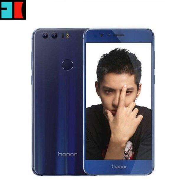 """Оригинал Huawei Honor 8 4 Г FDD LTE 3 ГБ RAM 32 ГБ ROM Мобильный Телефон Окта основные Android 6.0 5.2 """"FHD 1920*1080 Отпечатков Пальцев NFC"""