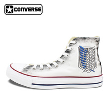 Skateboarding Shoes Brands Converse All Star Men Women Sneakers Hand Painted Anime Shoes Attack On Titan Wings Jiyuu no Tsubasa