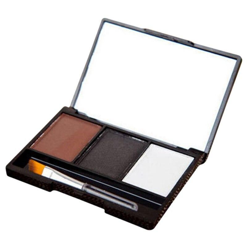 3 Colors Set Professional Makeup Eyeshadow Palette Eyebrow Makeup Palatte paleta de sombra Contour Palette Maquiagem Women 11