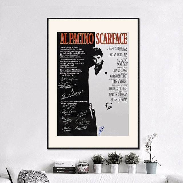 Signature Movie Scarface Canvas Art Print Painting Poster Wall ...