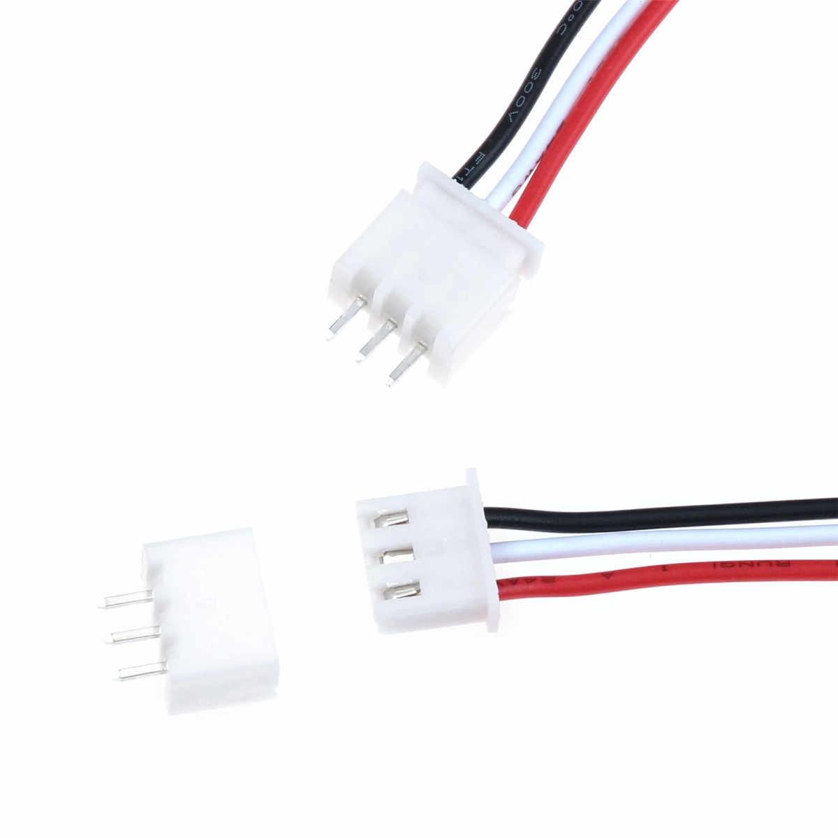 10 комплектов Mini Micro JST разъем XH 2,54 мм 3-контактный разъем с 24AWG жильный кабель 150 мм Длина для RC Самолет li-po батареи разъемы