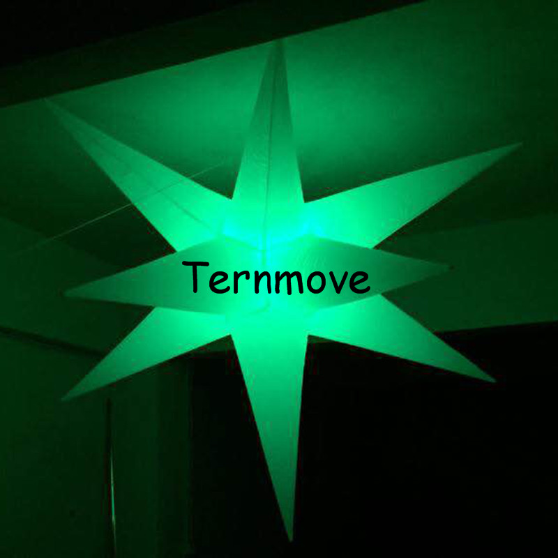 Étoiles gonflables, décoration de fête avec ornement coloré de vacances de lumière LED, étoile gonflable, décoration d'éclairage, boule de lumière LED