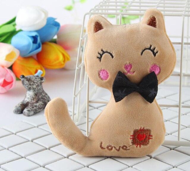 Animal Stuffed Kitty Cat Key chain TOY 4