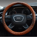 Free Shipping Brand design Leather car steering wheel cover  Four seasons High Quality anti-skidding Car direction set