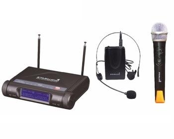 STARAUDIO SMU 2020A + B 2CH Drahtlose Pro UHF Dual Handheld und Headset Mikrofon System DJ Club Kirche Mic