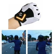 1Pair Bike Half Finger Smart Glove LED Turn Signal Outdoor Riding Gloves Men Women Bicycle Cycling Outfit for Road