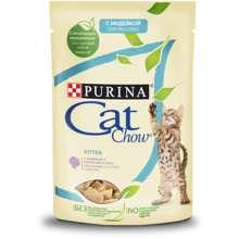 Набор влажный корм Purina Cat Chow Для котят с индейкой и кабачками в желе, 85 г x 24 шт.