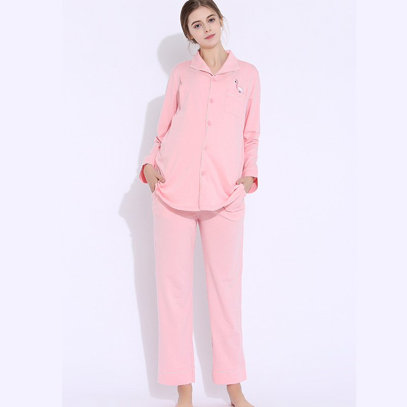 Maternity Breastfeeding Sleepwear Nursing Pajamas Set Women Cotton Pregnant Pajama Set H314 maternity pajama hot robes autumn winter pregnant woman unisex home coral fleece pajama comfortable solid pockets women bathrobe