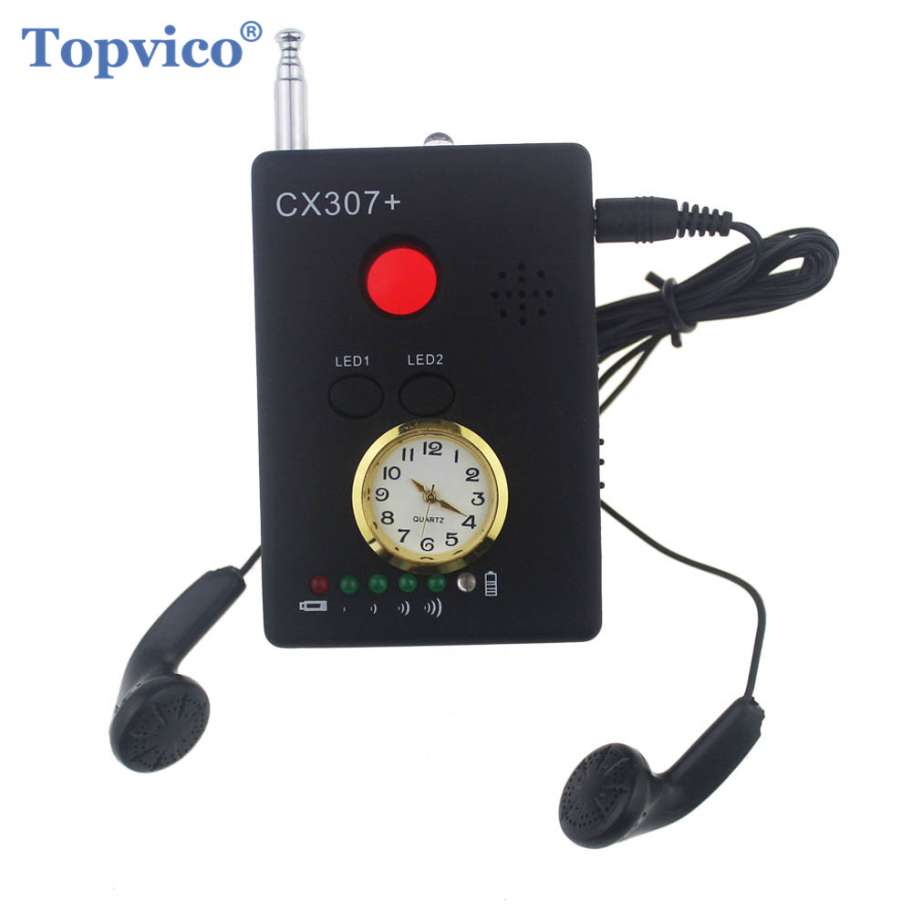 Topvico Full Range Anti - Spy Bug Detector Wireless Camera Hidden Signal GPS RF GSM Devices Finder Privacy Protect Security 1 pcs wireless signal finder anti spy full range rf camera detector protable gsm sensor mini hidden camera use in hotel