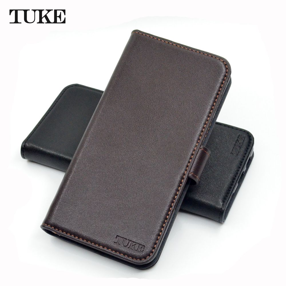 TUKE Genuine Leather Flip Case for <font><b>Sony</b></font> XA1 Plus Wallet Stand Cover For <font><b>Sony</b></font> Xperia XA1+ G3421 G3423 SM11L G3412 <font><b>G3416</b></font> Phone Bag image