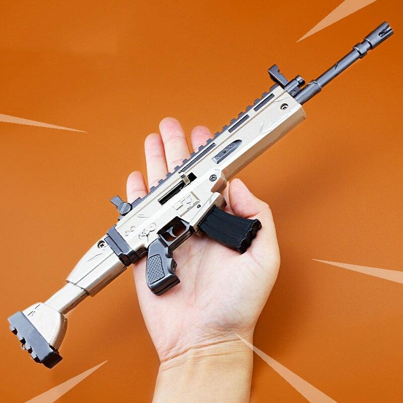 Quindici giorni Portachiavi Per Bambini di Natale Giocattoli Regalo di Modello di Pistola AWM Fort Notte Nite Battle Royale accessori del Gioco Cicatrice Action Figures