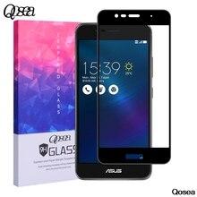 Qosea для Asus Zenfone 3 Max ZC520TL Экран протектор 9 H закаленное Стекло гальваническим 3D спереди полный Плёнка Для Zenfone 3 Max Стекло