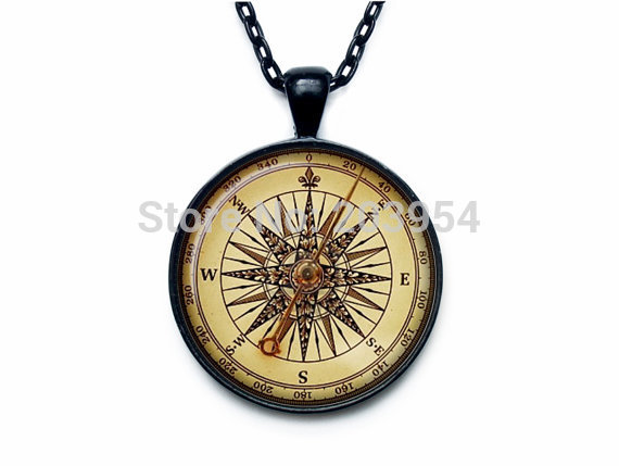 US movie golden compass necklace pendant new 1pcs/lot ART PRINT Steampunk chain jewelry friends gift womens fashion vintage ship