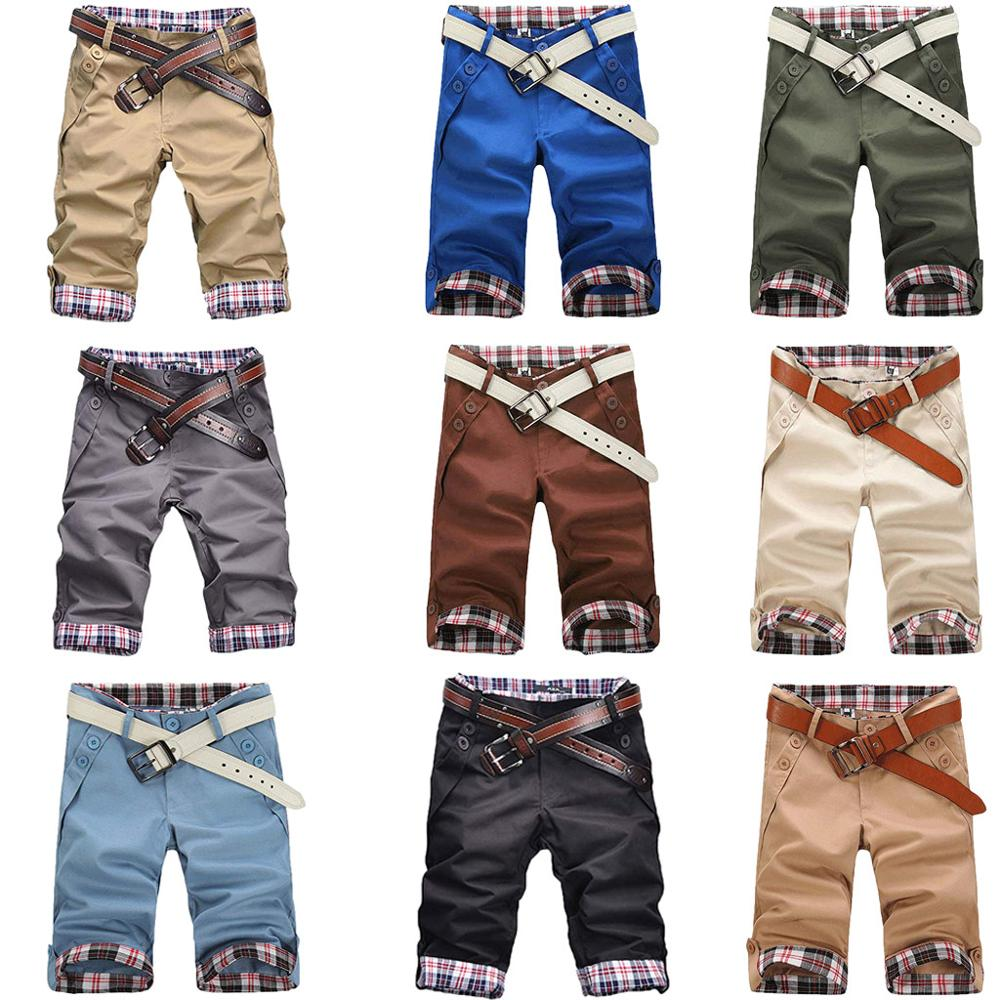 Men's Sport Slim Fit Plaid Button Casual Sweatpants Drawstring   Shorts   Pant Summer Cotton Casual   Short   Pants Brand Clothing