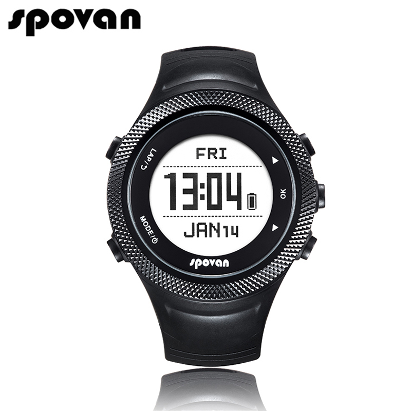 SPOVAN Smart Sports Watches for Men Watch Women Chargable GPS/Bluetooth 4.0/APP/Waterproof (Free Heart Rate Belt) GL006